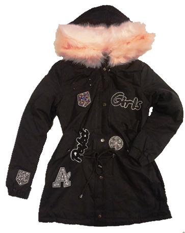 kurtka damska młodzieżowa czarna