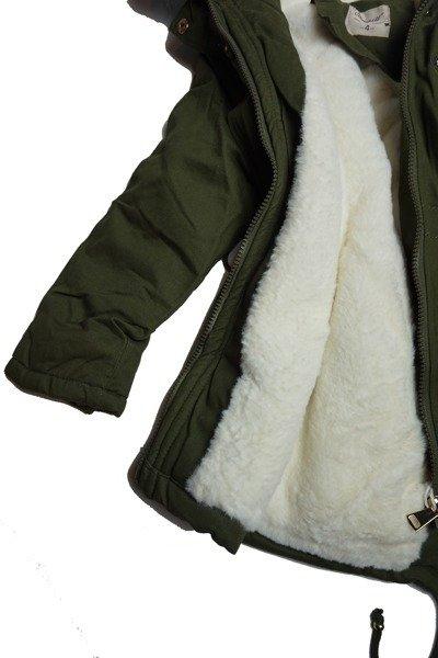 7b716ed02784cd Kliknij, aby powiększyć · Kurtka zimowa dziewczęca/dziecięca parka z białym  futrem ...