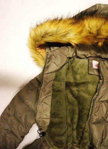 2e30ade3e49ed Kliknij, aby powiększyć · Kurtka zimowa młodzieżowa damska khaki zielona  pikowana puchowa ...